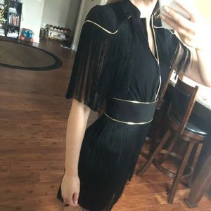 Dresses - Elisabetta Franchi Dress. Black and gold size 38